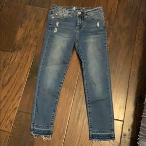 7 for all Mankind distressed skinny jeans size 10